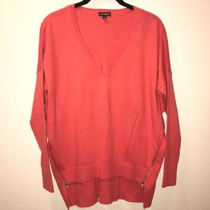 NWOT Coral Express Size-Zip Sweater